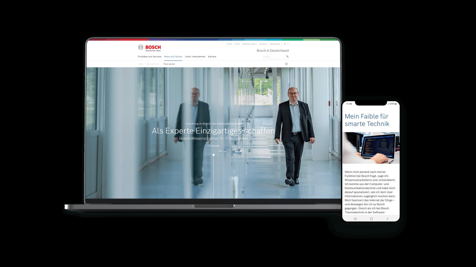 Bosch HR Employer Storytelling Desktop Mockup