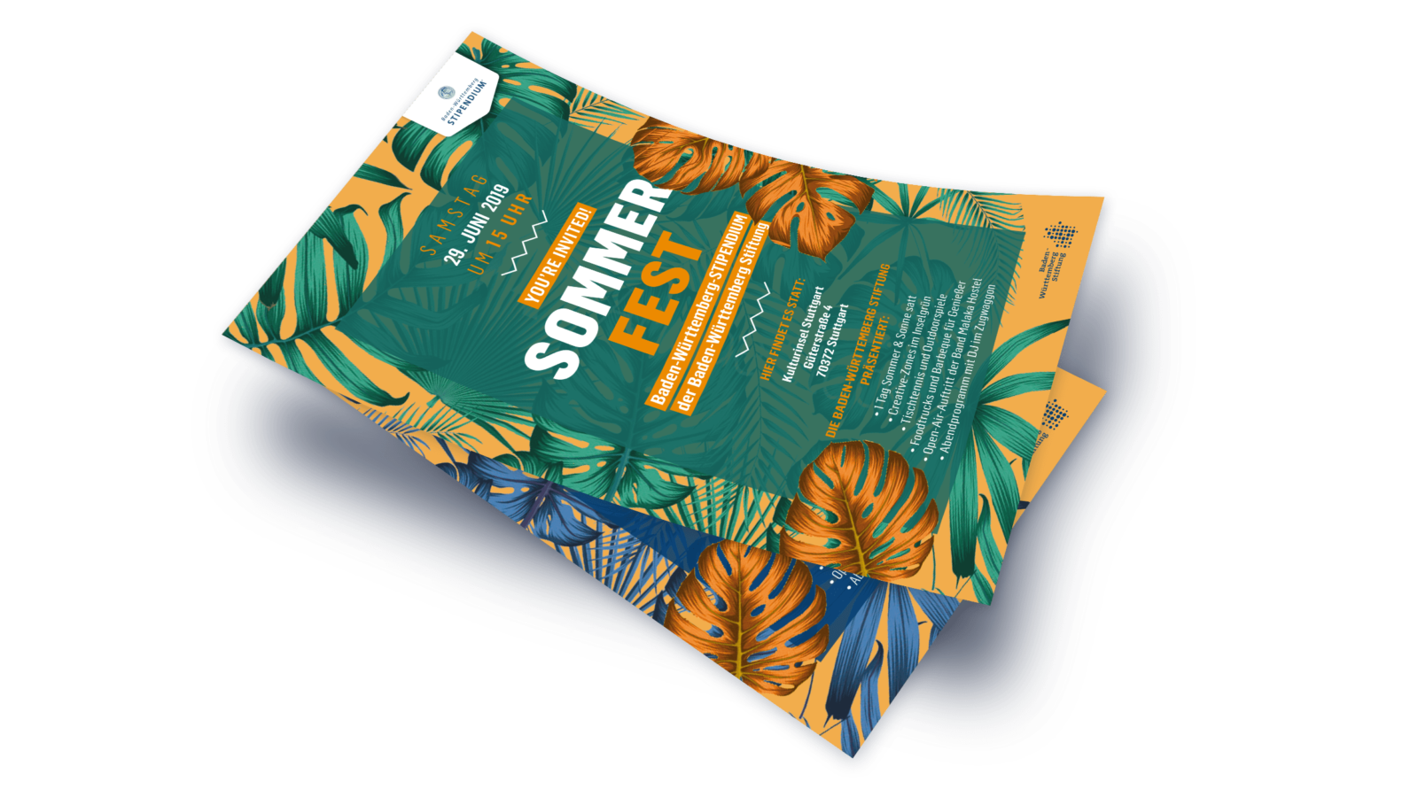 BWS Sommerfest Einladung Mockup