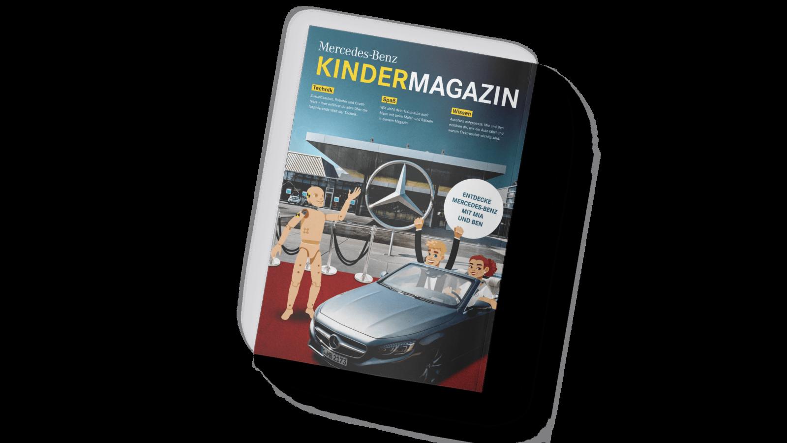 Mercedes Benz Kindermagazin Mockup