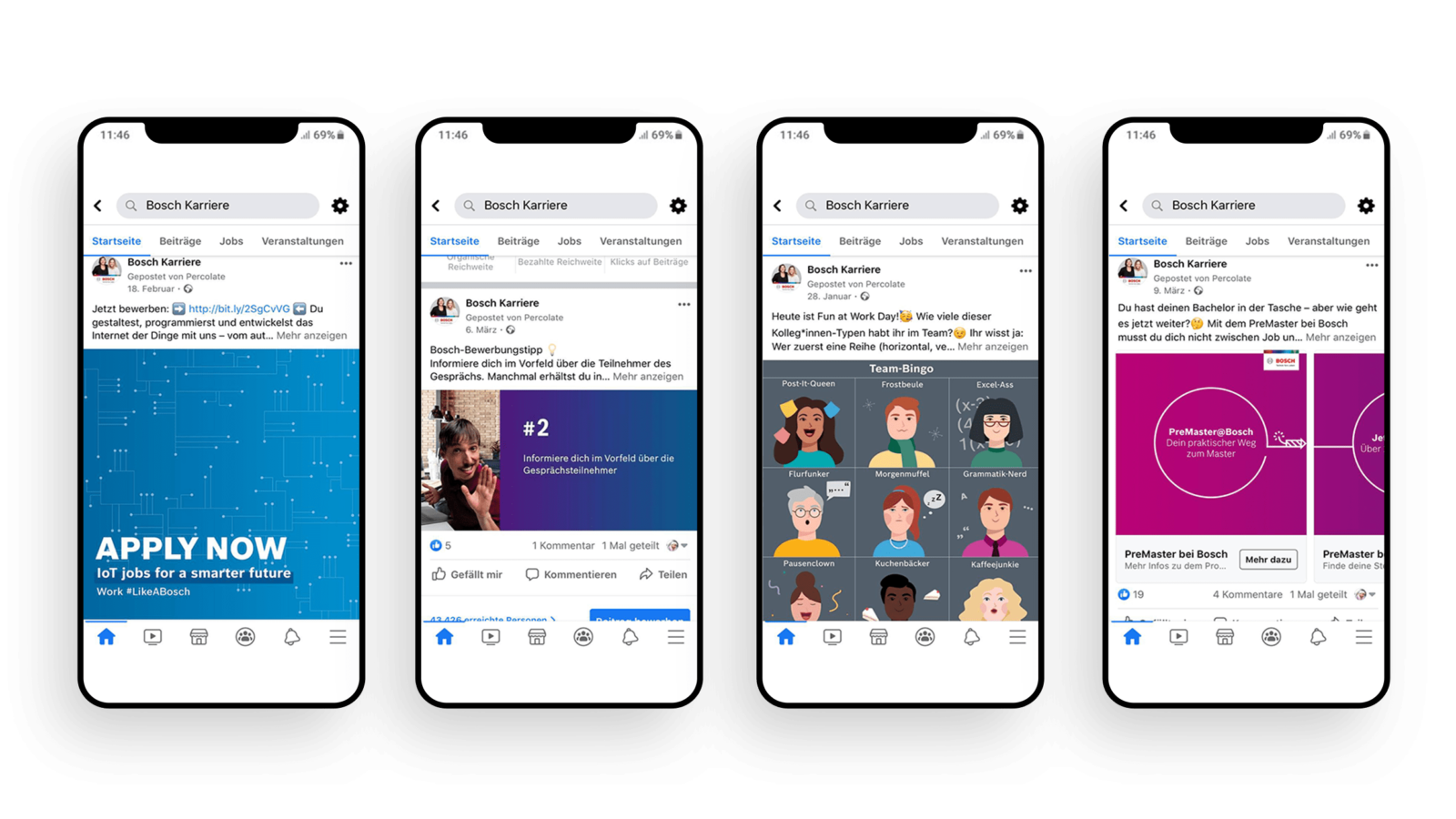 Bosch HR Employer Storytelling iPhone Mockup